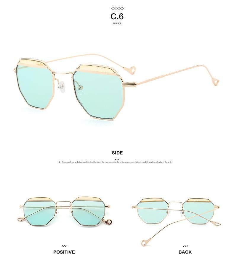 2018 Baru Merek Desain Uniseks Pria Wanita Retro Sunglass Lensa Antik Kacamata Kacamata Hitam Aksesoris Cermin