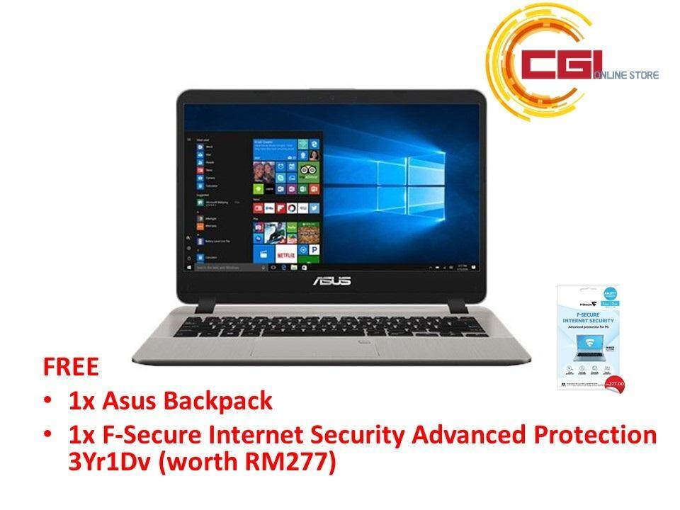 Asus Vivobook A507M-ABR063T 15.6 Laptop - Gold (N4000,4GB,500GB,INTEL HD,W10) Malaysia