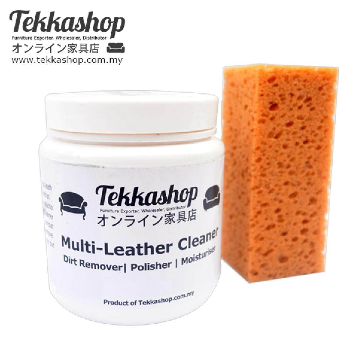 Tekkashop ML250 Multi Leather Cleaner Leather Furniture Moisturiser Gel 250g + Free Sponge