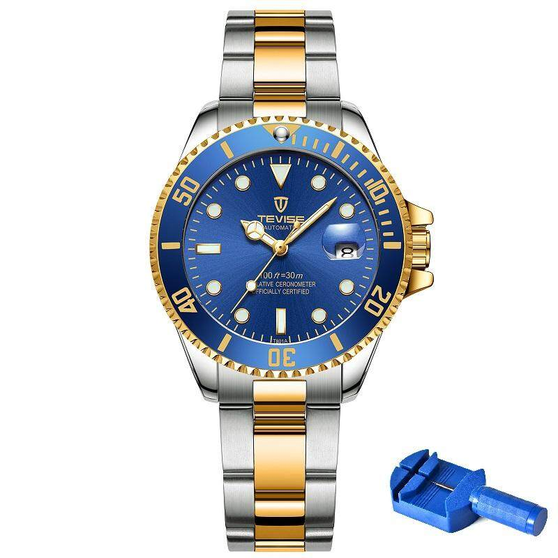 Quartz Watch Women Tevise T801 Women Watch Stainless Steel Date Luminous Hands Water Resistant Girls Wrist Watches For Women By Eastern Dream Technology Co., Ltd.
