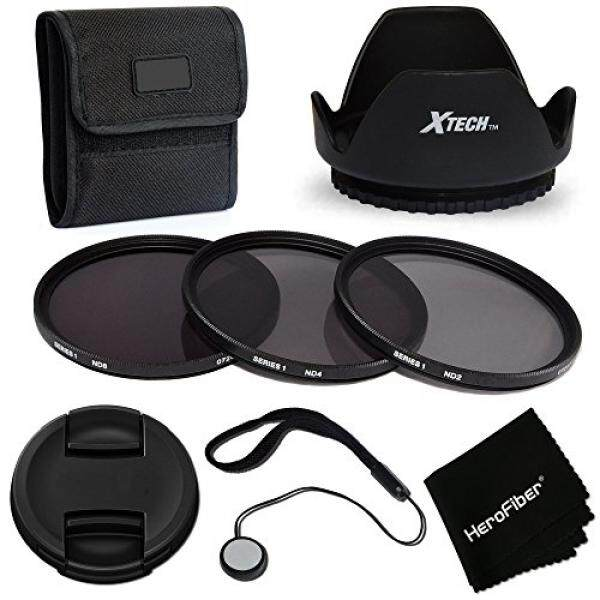 PRO 67mm ND Filters Accessory KIt w/ 3 Piece 67mm ND Filters (ND2 ND4 ND8) + 67mm Lens Hood + 67mm Lens Cap for Canon EOS Rebel T6i T6s T5i T5 T4i T3i EOS 5DS 5DSR 7D 6D 70D 60D and all 67mm Cameras