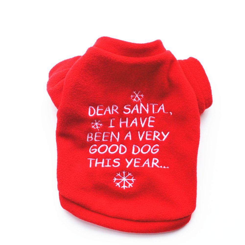 New Pet Warm Dog Cat Jacket Coat Puppy Clothes Winter Sweater Christmas Apparel[Red XS