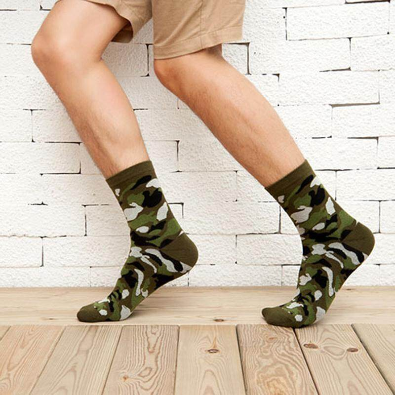 Underwear & Sleepwears Efero Autumn And Winter Compression Socks Classic Camouflage Socks Male Business Style Colorful Mens 3d Print Socks Meias 3pair