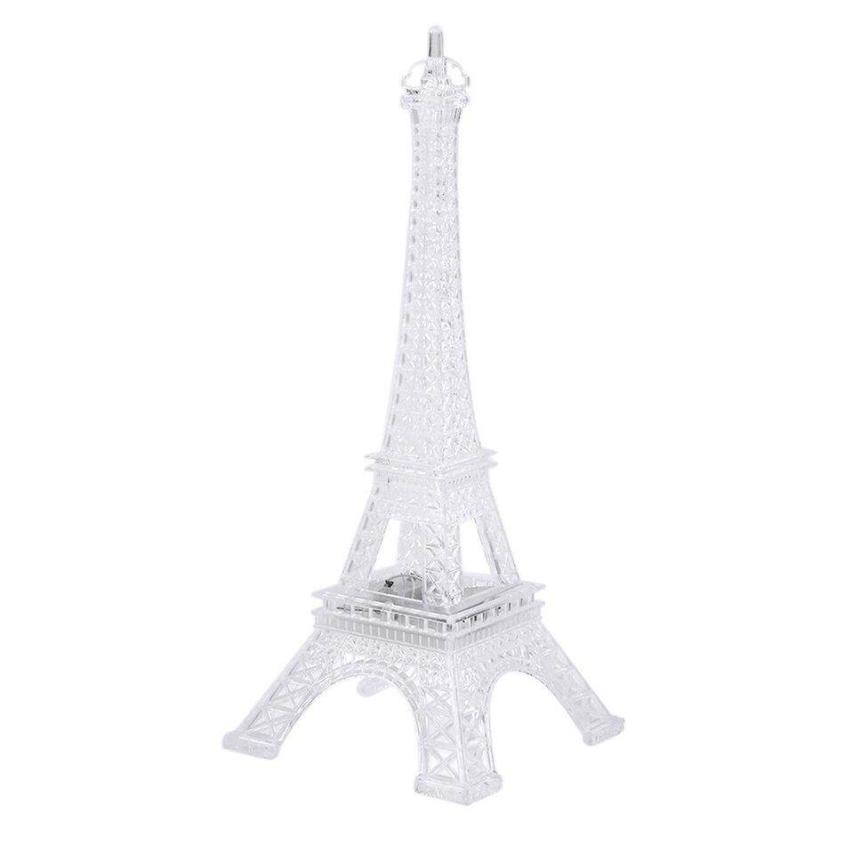 RUN2 Bright Eiffel Tower Desk Table Lamp 7 Color Changing Mood Light Table LED Lamp