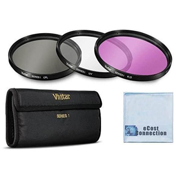 Vivitar 3 Piece UV / CPL / FLD 58mm Filter Kit for Canon for Canon EOS, T1i, T2i, T3, T4i, T5, T5i, SL1, 1D, 5D, 5D Mark II, 5DII Cameras &More + eCost Microfiber Cloth