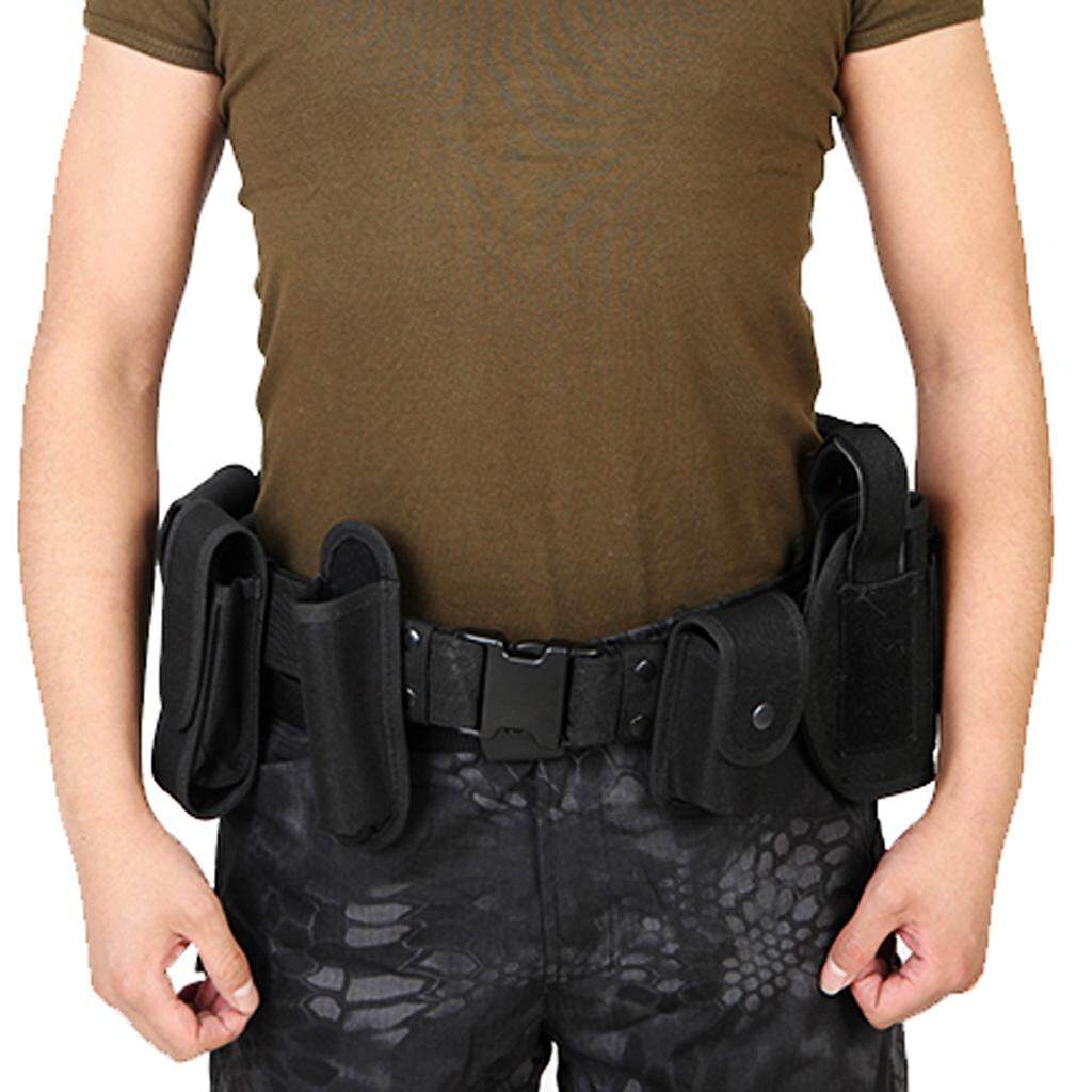 MagiDeal Utility Belt Waist Bag Security Police Guard Kit with Radio Holster Pouch - intl