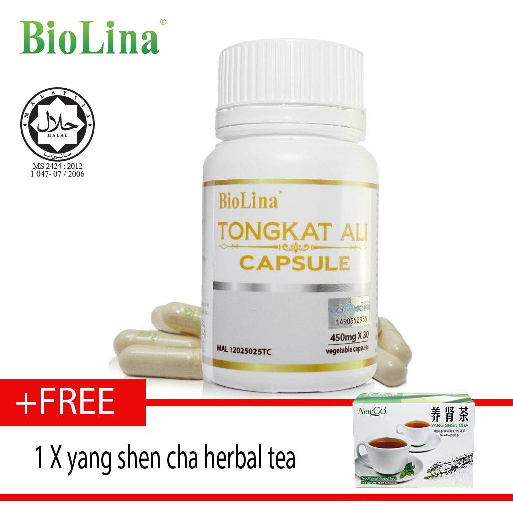 Biolina Tongkat Ali Capsule 30's x450mg free yang shen cha herbal tea ????30?