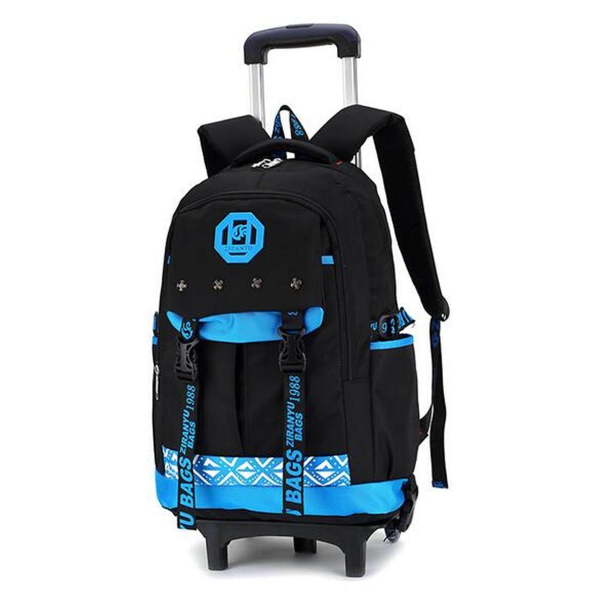 9e2efe12db Children Trolley Backpack Travel Rucksack Luggage School Bag Handbag With  Wheels   2 wheel
