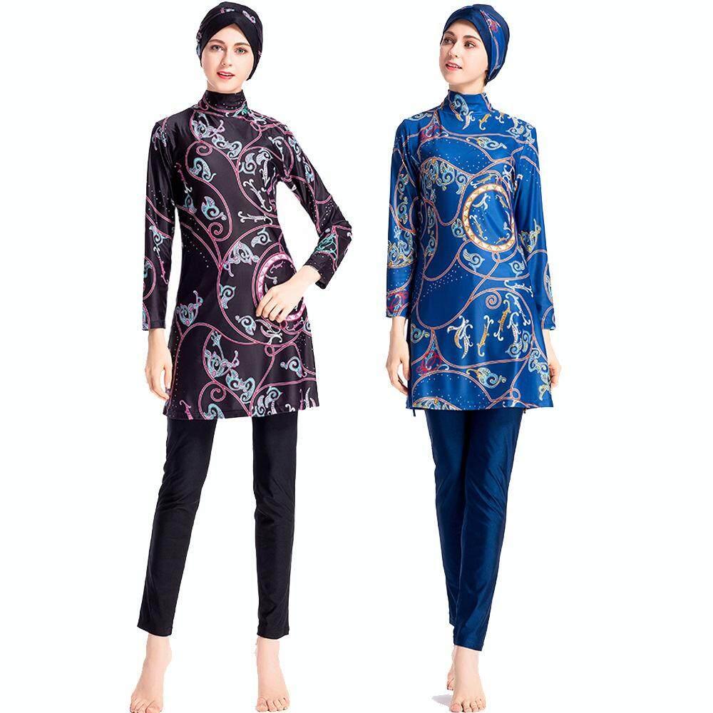 f8ea6f8e0c New Muslim Digital Print Swimsuit Islamic Women s Conservative Beach  Swimsuit