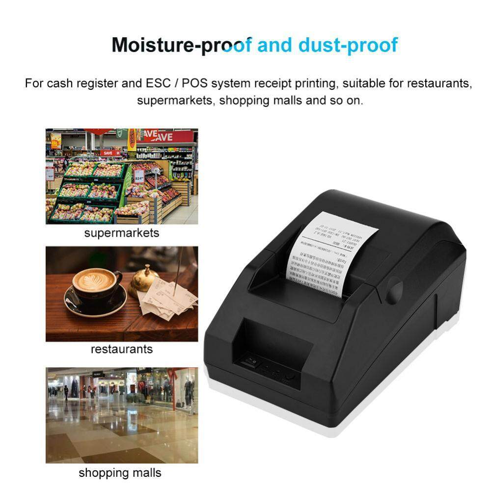 48MM Cash Register POS Thermal Ticket Printer USB Bluetooth Printer for Android iOS EU Plug