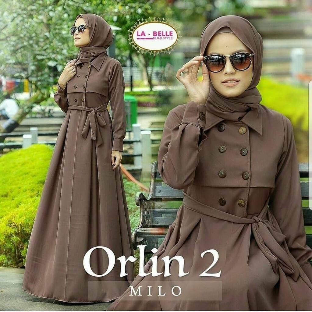 Baju Muslim Original Gamis Orlin 2 Dress Baloteli Women s Long Sleeve  Pakaian Muslimah Kasual Jubah Baju 480be6bd7b