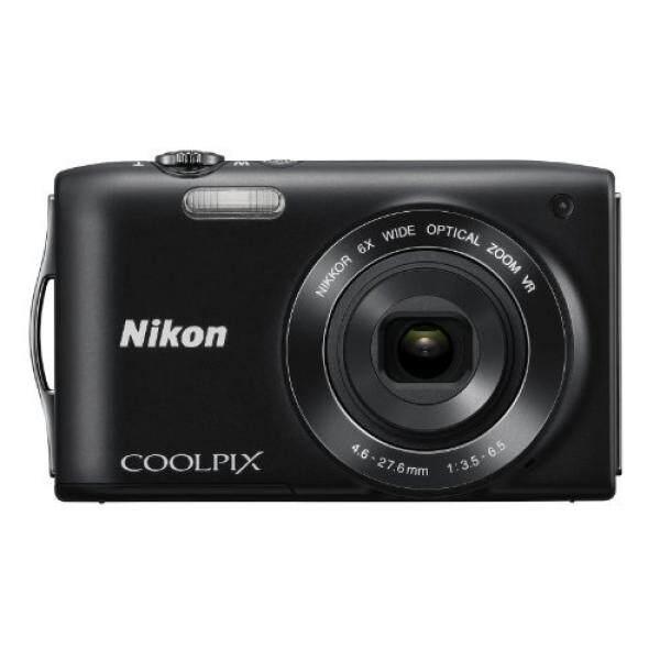 Nikon Coolpix S3300 P Kamera Digital dengan 6x Zoom Nikkor Lensa Kaca dan 2.7 Inci LCD