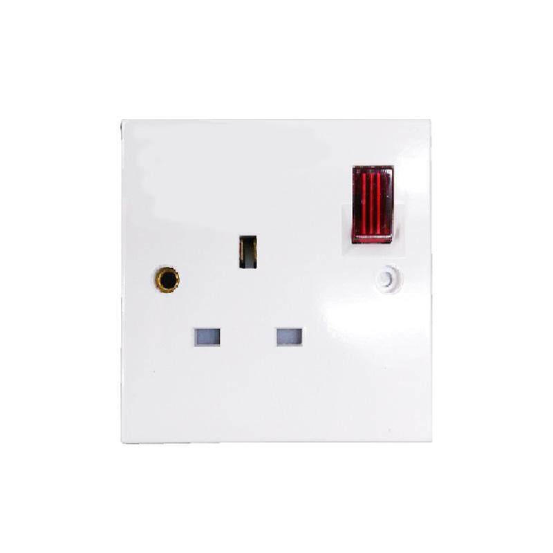 Ezlife UMS 1 Gang Switch Socket Outlet 13A Flush Neon 1213A-N (SIRIM Approved)