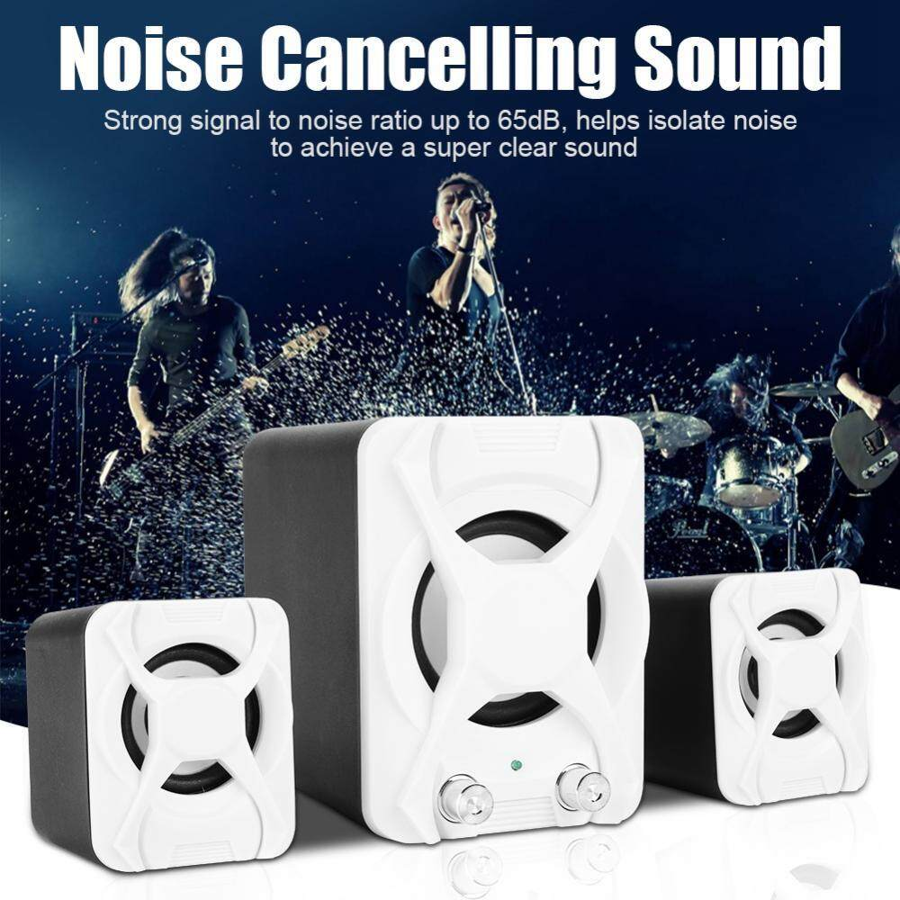 USB Wired Combination Computer Speakers HiFi Deep Bass Stereo Audio System for PC Laptop Malaysia