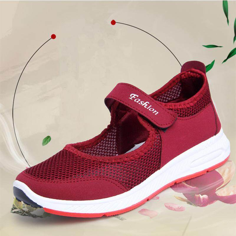 3aa3a9c56e0 Summer woman Walking shoes middle-aged mother shoes Old Beijing cloth shoes  Casual Women s shoes