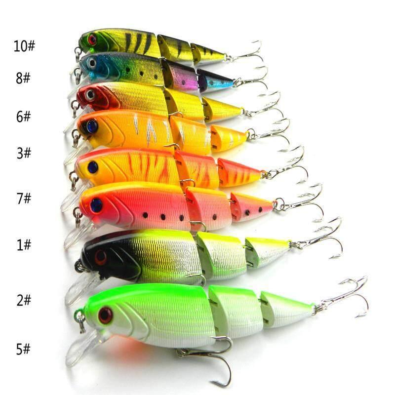 8 Pcs Umpan Ikan Kecil 10.5 Cm/14G Plastik Keras Umpan Ikan Kakap 8 Warna