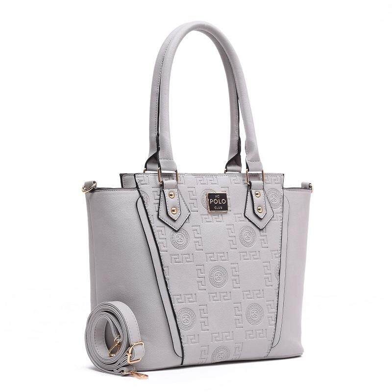 Angel Court Shoulder/Crossbody Handbag-ACP67-1931/Light grey