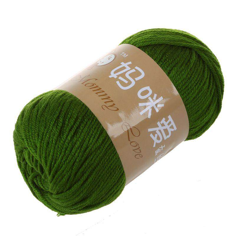 Mommy love High Quality 1 Skein 50g Hot Soft Yarn Knitting Natural Silk Cotton Baby Sweater