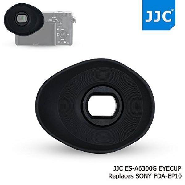 JJC Soft Silicone 360º Rotatable Ergonomic Oval Shape Camera Viewfinder Eyecup Eyepiece for Sony ILCE A6300 A6000 NEX-6 NEX-7 Replace Sony FDA-EP10, Extended Version for Eyeglass Photographer User