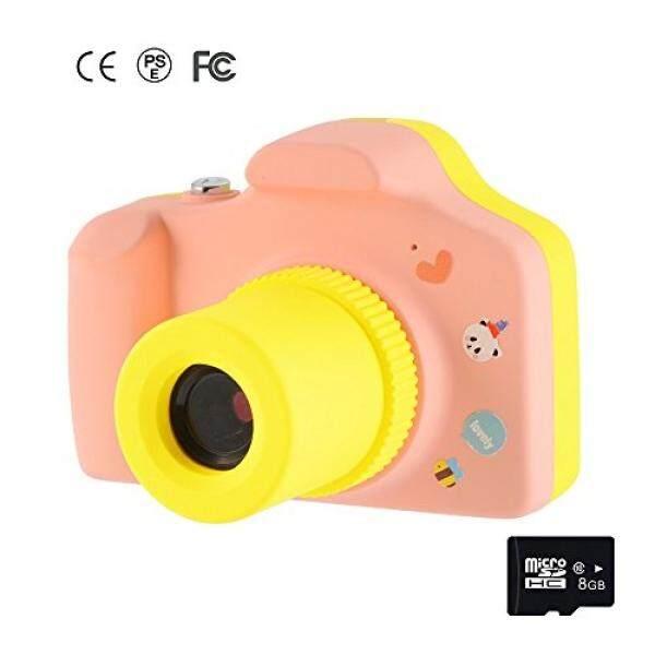 Memoru Anak-anak Digital Kamera 1.5 Inci Layar Mini Kamera Anak-anak Mainan HD Kamera Aksi Camcorder dengan 8 GB (Berwarna Merah Muda) lucu Ulang Tahun/Hadiah Natal untuk Anak-anak-Intl