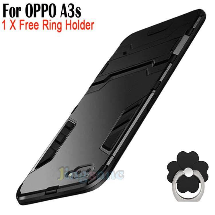 Rp 91.000. Untuk OPPO A3s [Casing Ponsel + Dudukan Cincin] Hibrida 2 In1 Case Plastik Keras ...