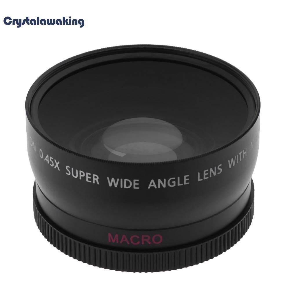 58 Mm 0.45X Definisi Tinggi Sudut Super Lebar dengan Lensa Makro untuk Canon Nikon