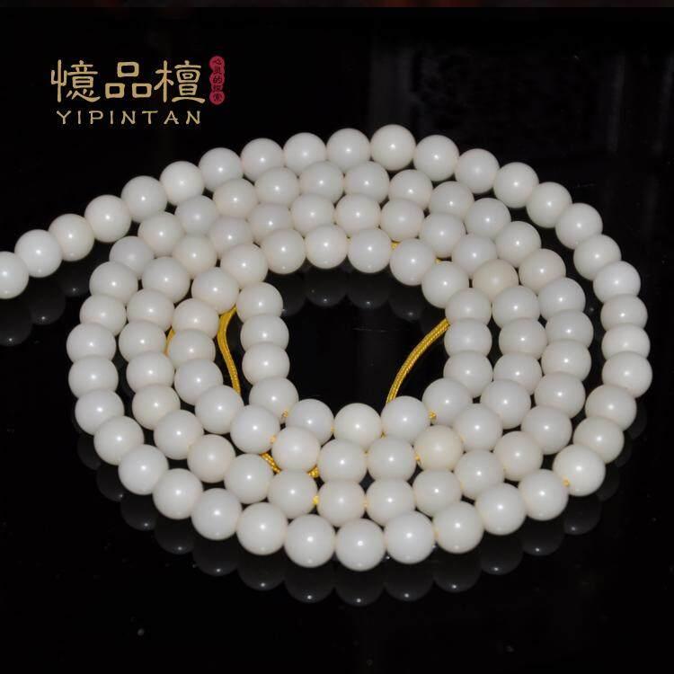 Hari Terakhir Diskon Putih Alami Bodhi Akar Circle Bead Lingkaran Gaya 108 Manik-manik Doa Buddha Indah Artikel Teks pria/Wanita dari Gelang Manik-manik Kawat Tangan Selamat Bersenang-senang