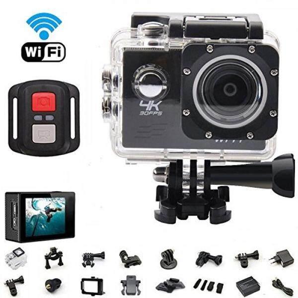 Podofo 4K WiFi Action Camera Ultra HD 16MP Waterproof Sports DV Camcorder 2.0 Inch LCD Screen