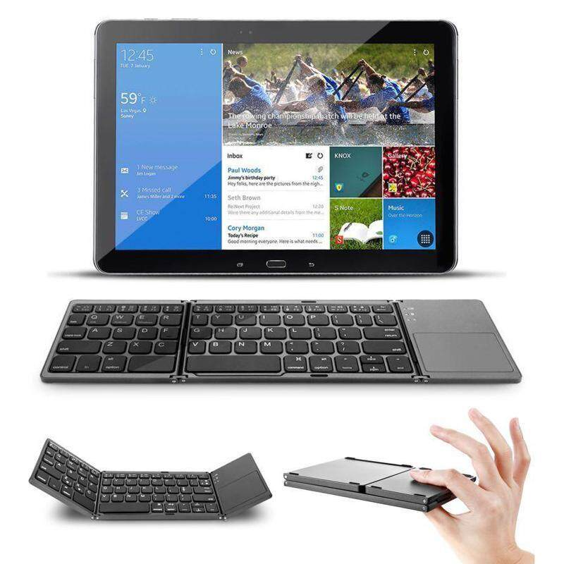 Gracekarin Online Ultra Thin Foldable Wireless Folding Bluetooth3.0 Keyboard With Touch Pad Malaysia