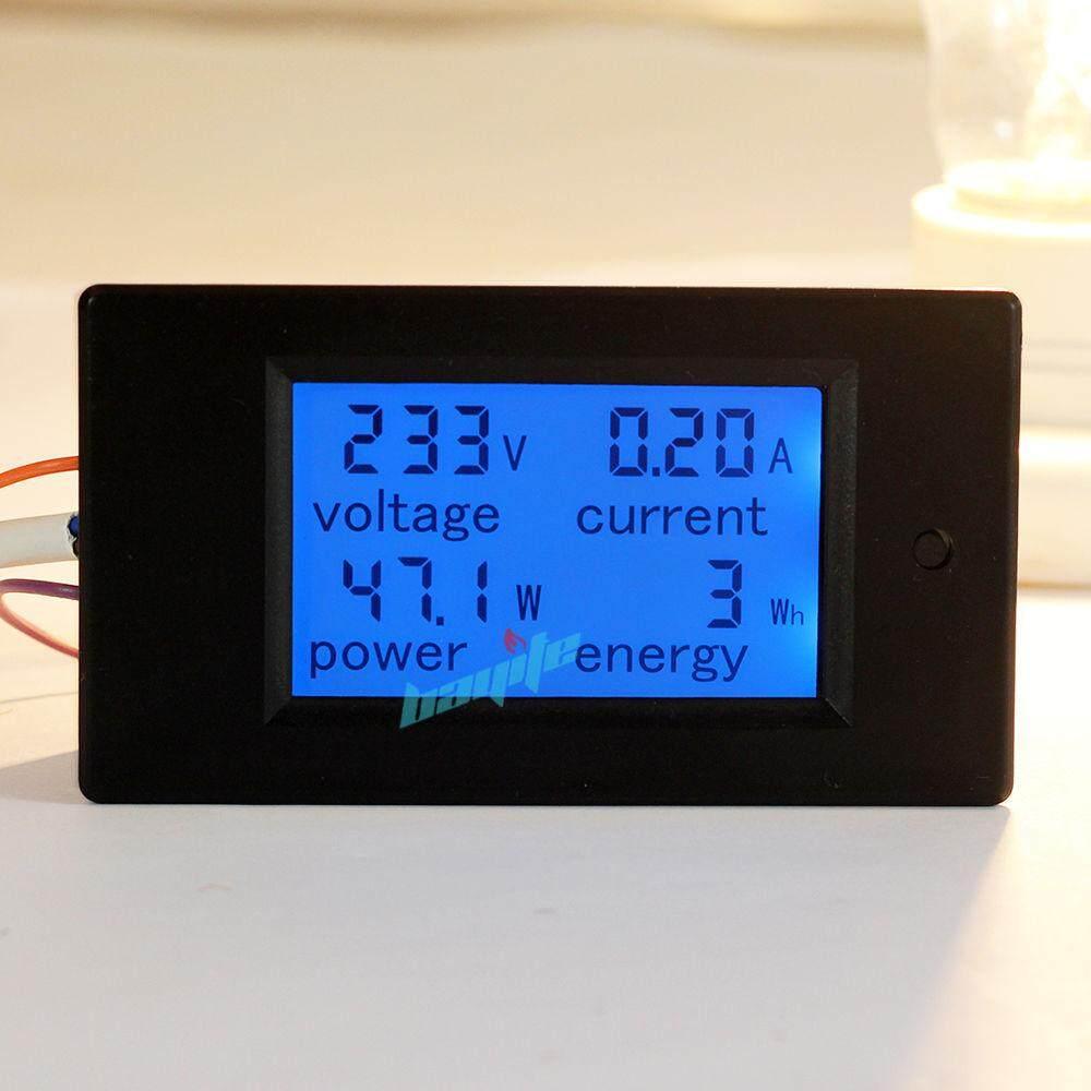 Gracekarin Online AC 100A Panel LCD Digital Power Watt Meter Monitor Tegangan KWh Pengukur Tegangan Volt Pengukur Amper