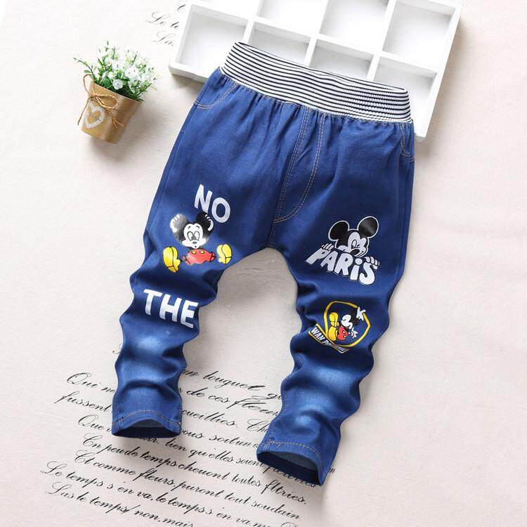 644cd787b SoonYip new fashion blue color spring autumn baby boys girls jeans baby boy  demin trousers