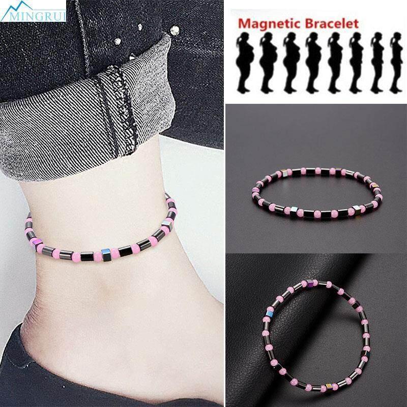 Mingrui Store Hematite Bicolourable Magnetic Foot Chain Weight Loss Chain By Mingrui.