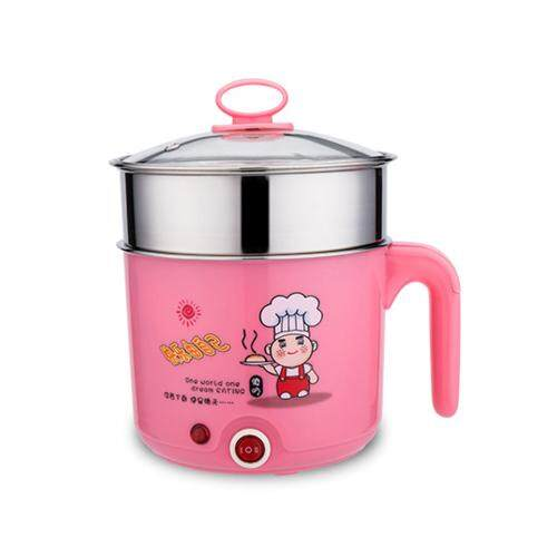 【Little Chef - Pink Colour】Multifunctional Mini Cooker Steam Hot Pot Electric Skillet