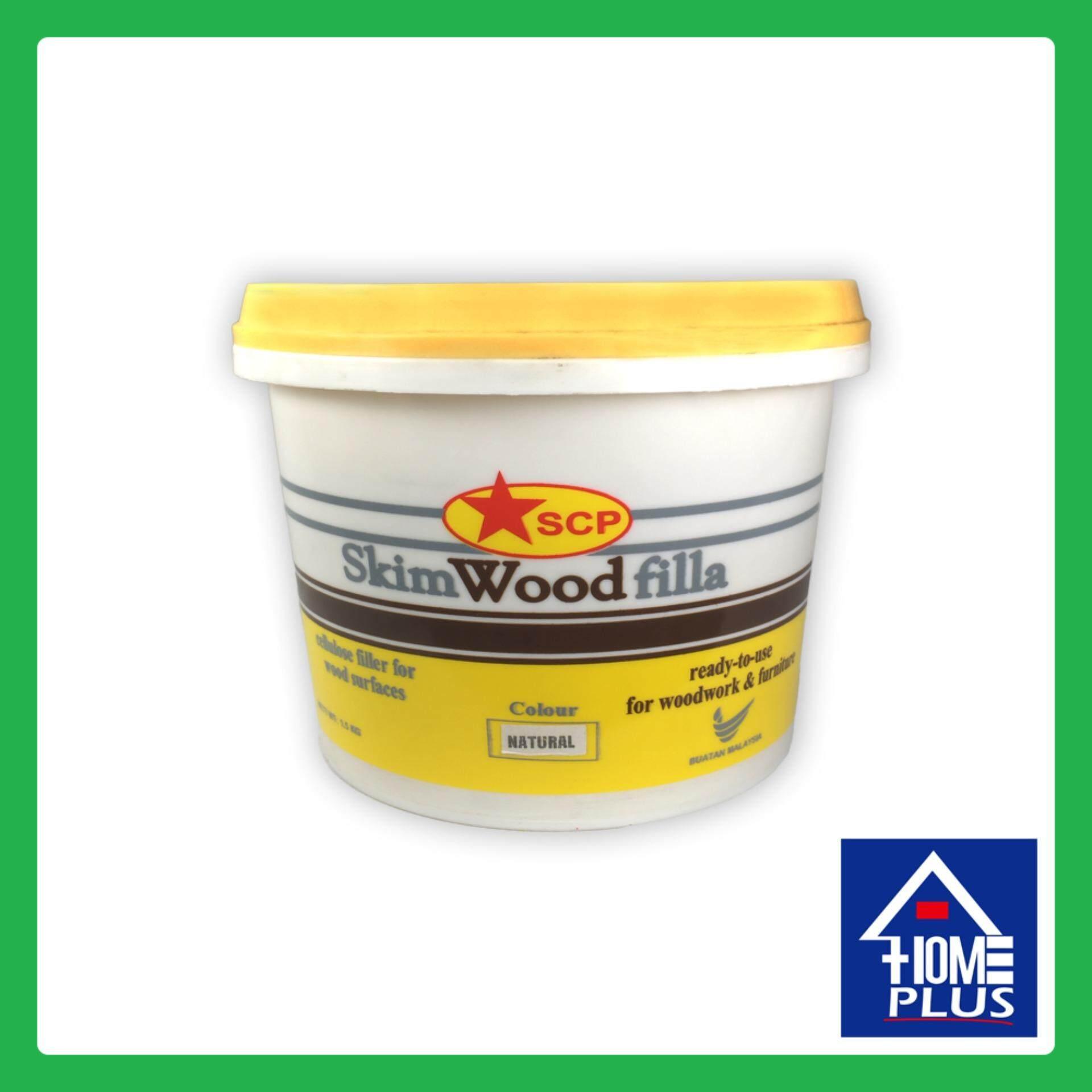 1.5kg SCP Wood Skim Instant Filla Filler Natural Home Kitchen Bathroom