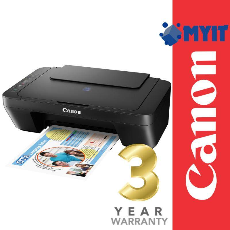 Canon Pixma E470 A4 Photo Printing Wireless Wifi Inkjet Printer AIO 3 in 1 (Print / Scan / Copy, 3 Years Warranty)