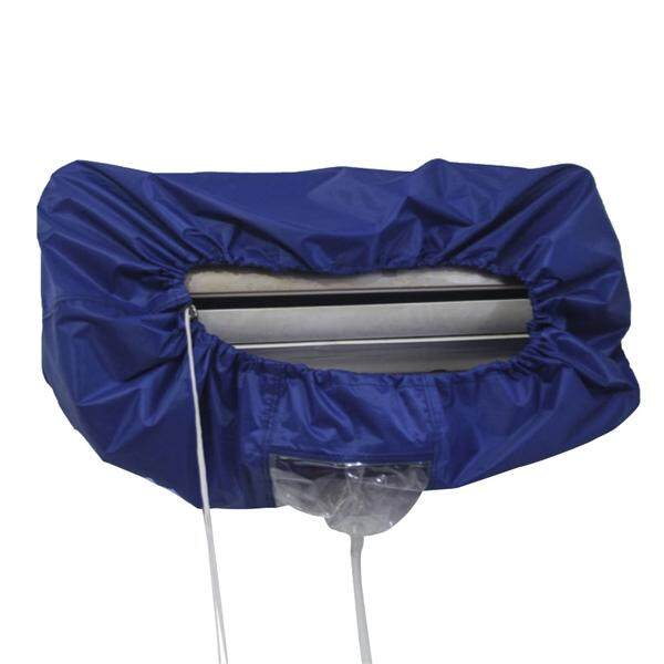 Air Conditioner Clean Cleaning Cover Waterproof Dust Washing Protector Size L (Blue)