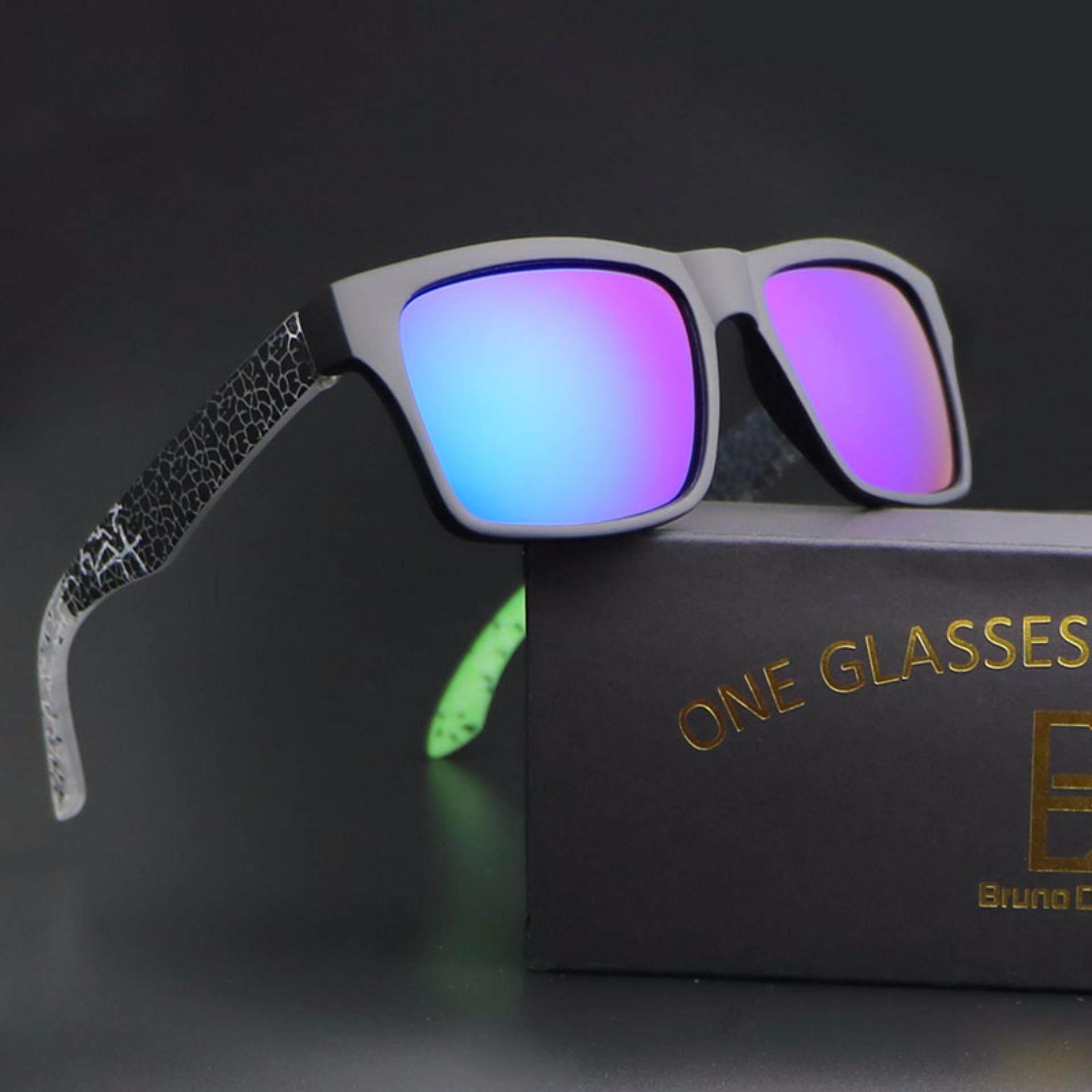 WY Ting 2018 Baru Bingkai Hijau Hijau Kacamata Hitam Lensa Pria Wanita Olahraga Kacamata Hitam Helm