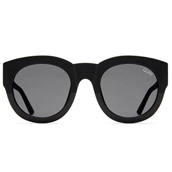 Quay Australia Jika Wanita Kacamata Bulat Sunny-Hitam/Asap-Intl