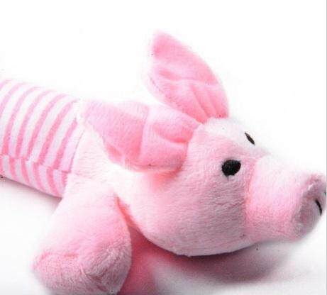 New Dog Toy Pet Puppy Plush Squeaker Squeaky Toys Pig Duck & Elephant toys