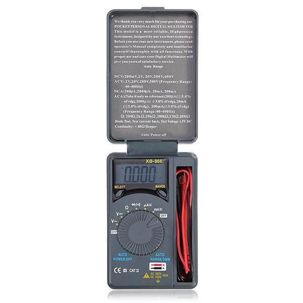 Lcd Mini Auto Range Ac/dc Pocket Digital Multimeter Voltmeter Tester Meter New - Intl By Sunnny2015.