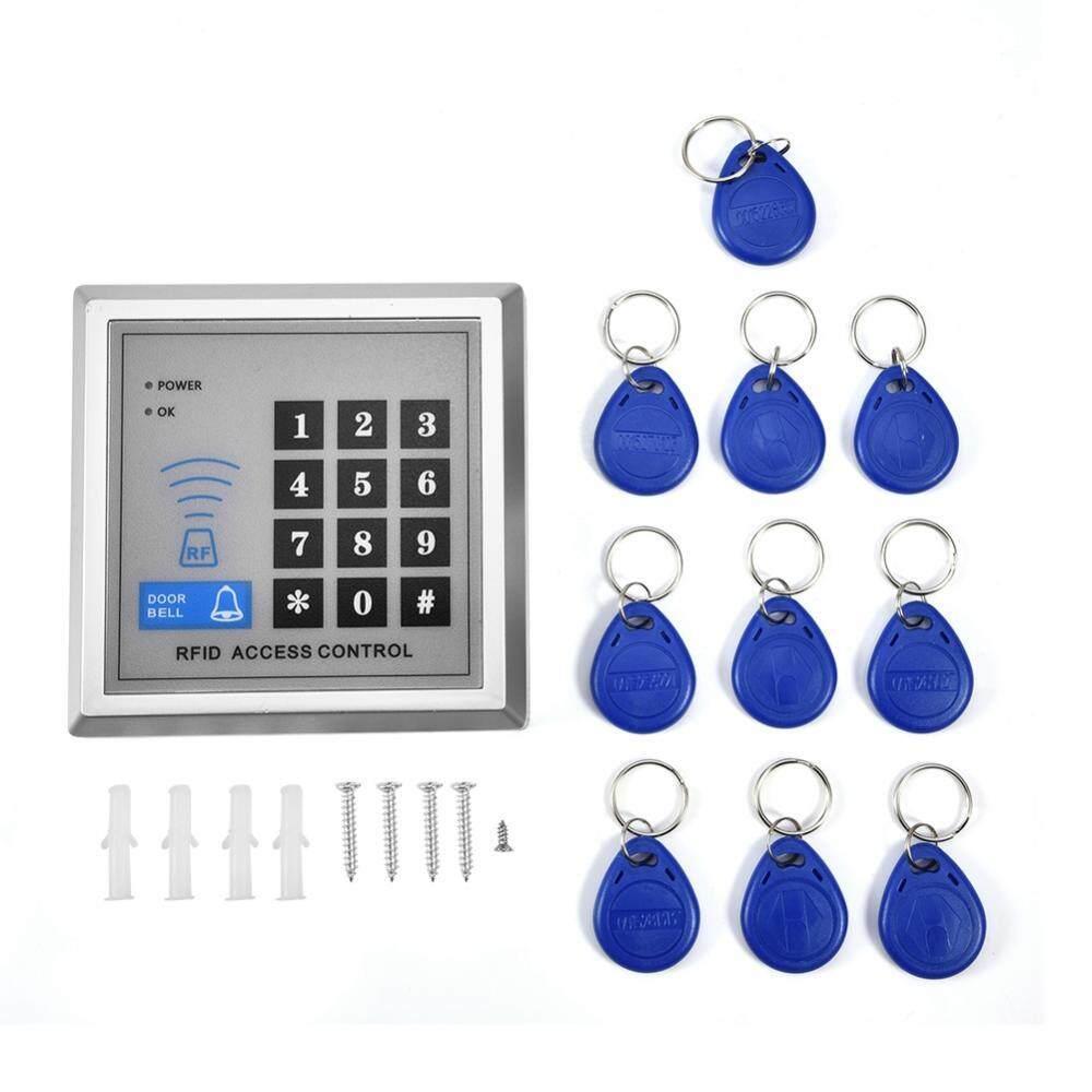 Justgogo Cửa Điều Khiển Truy Cập Hệ Thống Đầu Đọc THẺ RFID Điện Mật Khẩu Chuông Cửa Hệ Thống Khóa với 10 ID Chìa Khóa Fobs