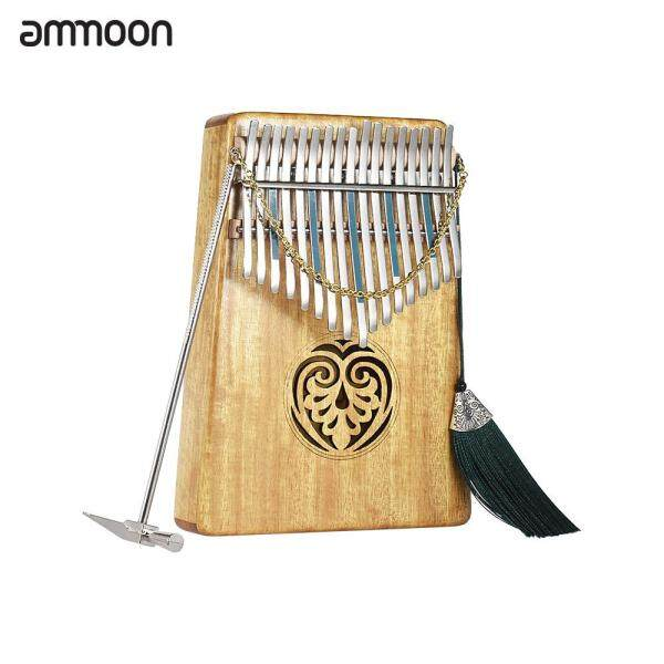Ammoon Kalimba Phiên Mbira Ngón Đàn Piano Sanza 17 Phím Gỗ Đặc Ngón Tay Piano Với Balo Du Lịch Gấp Gọn Sách Âm Nhạc Âm Nhạc Quy Mô Dán Dụng Cụ Hiệu Chỉnh Đàn Âm Nhạc Quà Tặng Dễ Dàng-Để-Tìm Hiểu AKP-17L