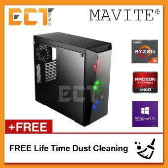 (2018 Latest) Mavite G7 Exclusive Forge Pro RGB Gaming Desktop PC (Ryzen 5 1600X,RX570-8G,120GB+1TB,8GB,W10P)