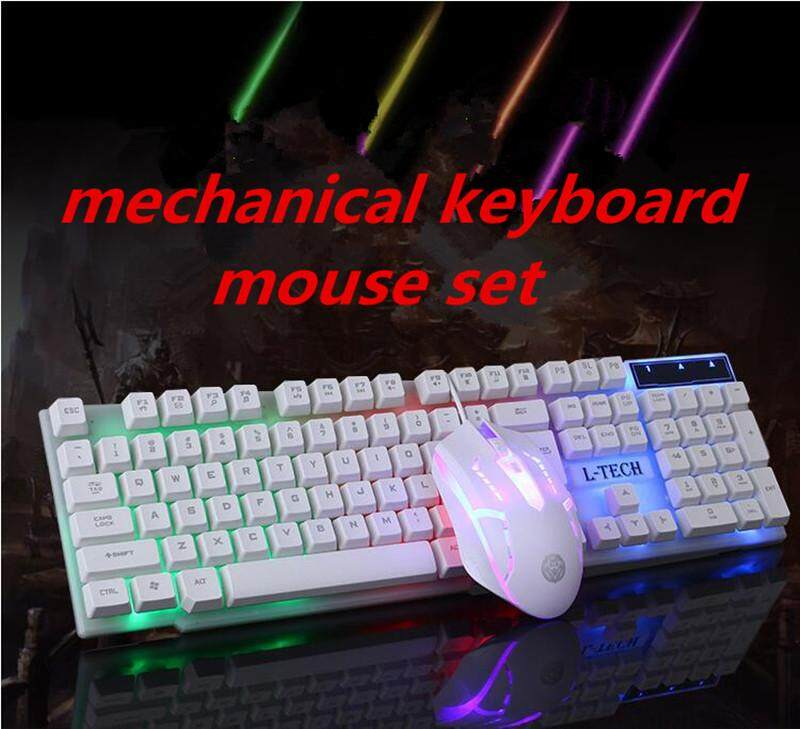 Gaming Keyboard USB Wired RGB Backlight Mechanical Keyboard Mouse Combo for Computer Laptop Games Gamer Malaysia