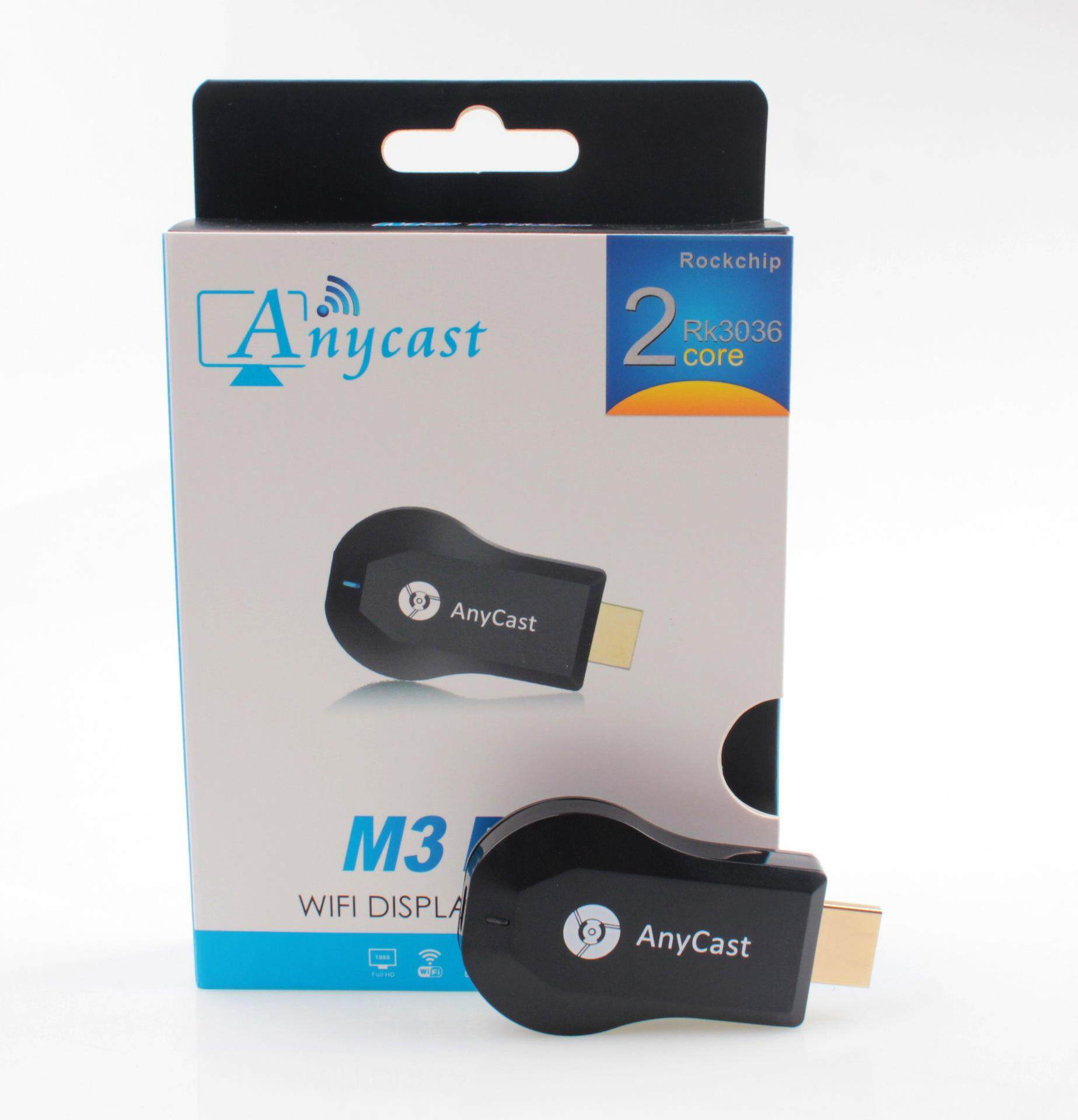 Fudun Anycast M3 Plus Ganda Inti H265 1080 P Airplay Miracast WiFi Tampilan Nirkabel Dongle (