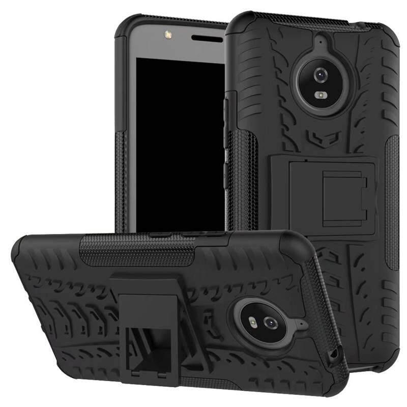 Mewah Hibrida TPU Silikon + Casing Handphone untuk Lenovo Moto Rola Moto E4 Plus MT6737 XT1773