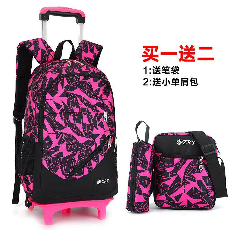 3aa3cd2dc7 Singapore. MWT5 3 PCS Student Trolley School Bag Removable Bag Backpack