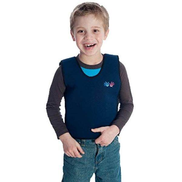 Fun and Functions Blue Weighted Compression Vest - Small (5-8) - Helps With Mood & Attention, Sensory Over Responding, Sensory Seeking, Travel Issues