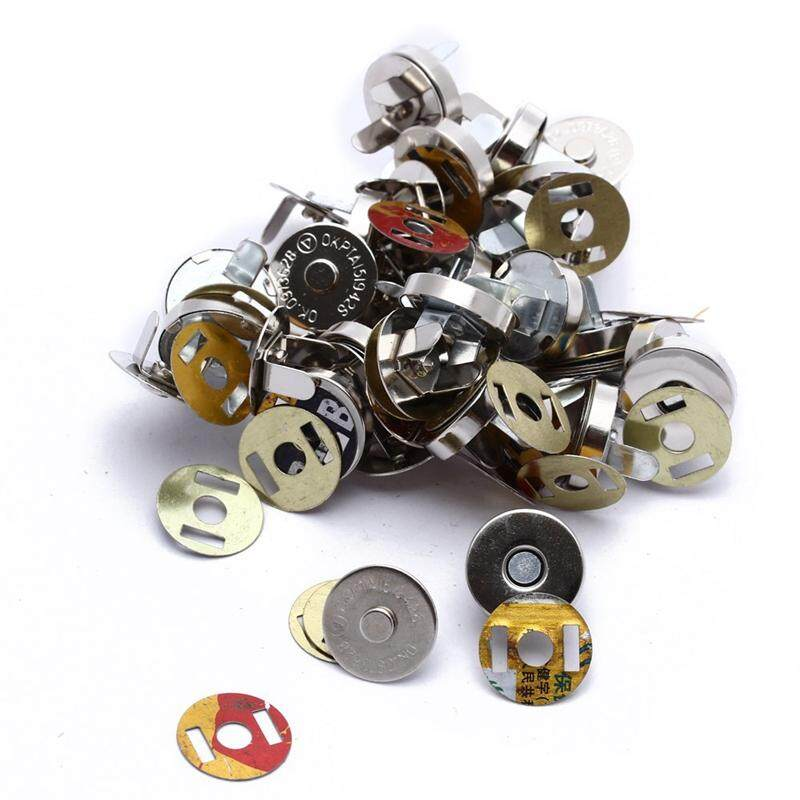 20x Silver Magnetic Clasps Snaps Buttons for Purses Handbag Bag Sewing Craft