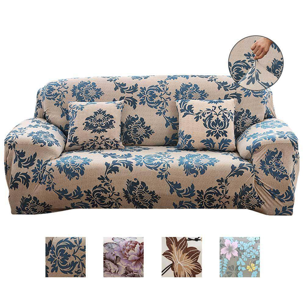 OEM 3 Seater Sofa Covers, 2018 New Stretch Sofa Slipcovers Super Fit Living Room Furniture Protector With Printed Pattern, Snag Resistant & Soil Resistant - 190-230cm/75-91
